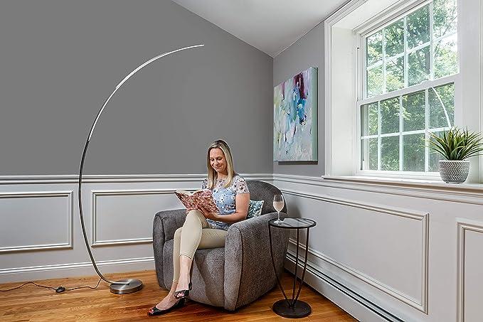 Daylight24 402097 15 Arc Led Floor Lamps Silver Amazon Com