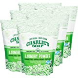Charlie's Soap - Unscented Laundry Powder 100 Loads (Six 100-load Bags, 600 Total Loads)