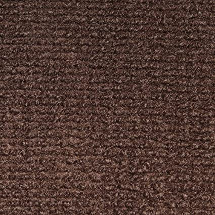 House Home And More Indoor Outdoor Carpet With Rubber Marine Backing Dark Brown 6 Feet X 15 Feet