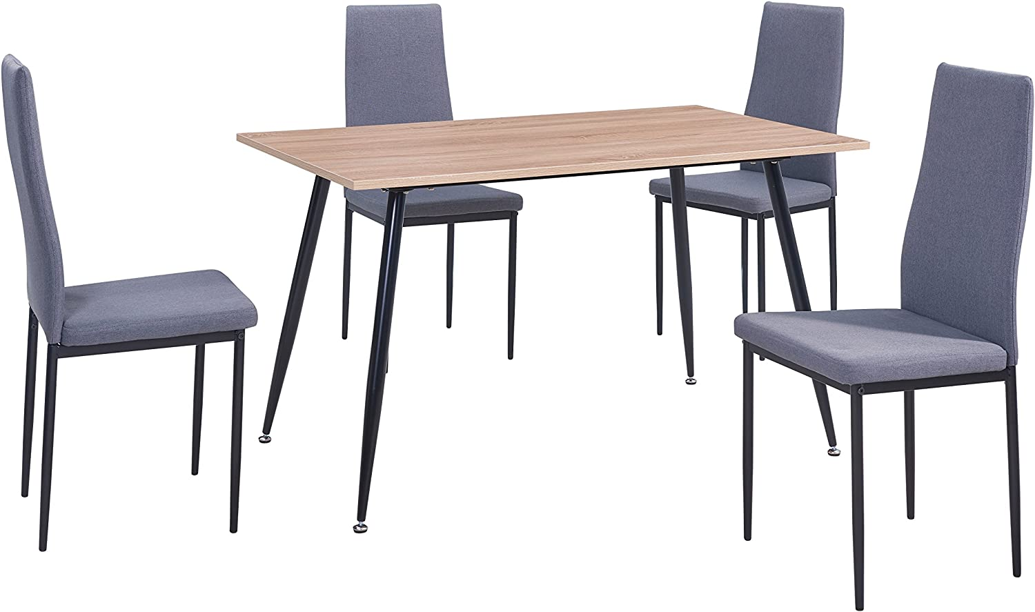 5 Piece Dining Set Table and 4 Padded Seat Chairs Home Kitchen Furniture Modern