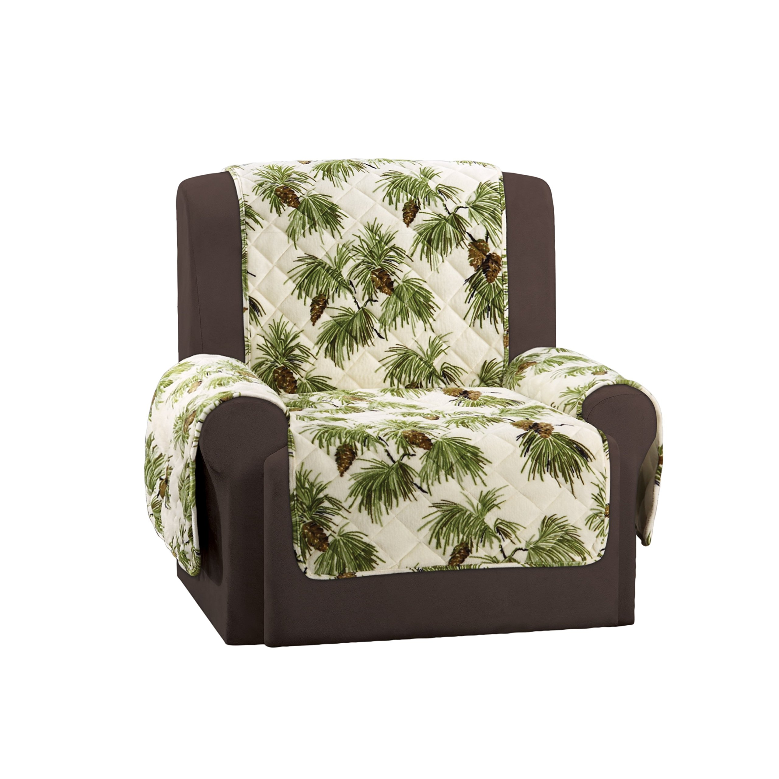Sure Fit SF46454 Lodge Chair Pet Throw/Slipcover with Arms, Pinecone Ivory