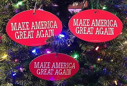 quantity 3 president donald trump christmas tree ornament make america great again 4