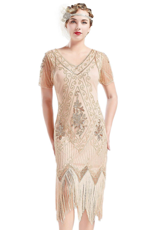 ArtiDeco 1920s Kleid Damen Flapper Kleid mit Kurzem Ärmel Gatsby Motto Party Damen Kostüm Kleid B07KG5TYRV Cocktail Niedrige Kosten | Professionelles Design