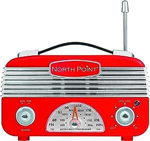 Northpoint AM/FM Portable Vintage Radio with Best Reception, Circa 1960's Design, 3