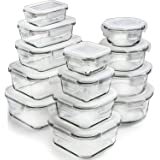 Glass Storage Containers with Lids (13-Pack) - Glass Food Storage Containers Airtight - Glass Containers with Lids - Glass Me