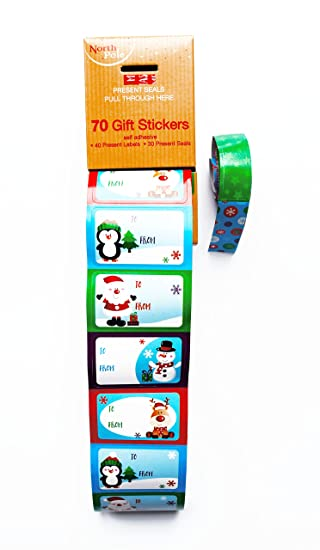 70 pack christmas labels self adhesive stickers tags cute kids gift