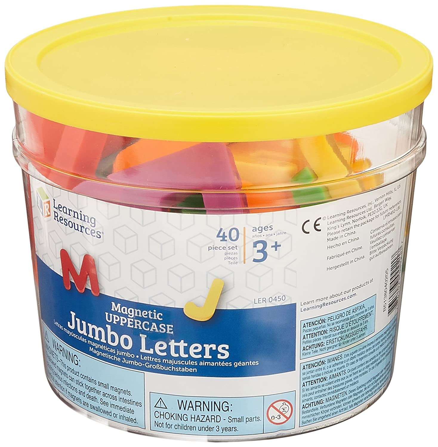Learning Resources Jumbo Magnetic Uppercase Letters, 40-Piece LER0450
