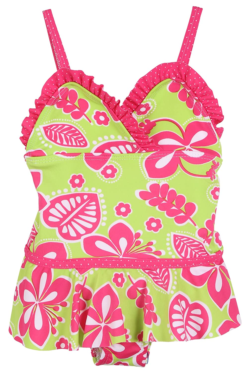 Sizes 12M-4T Wiippette Girls Baby UV Protection Swimsuit and Sandals Set