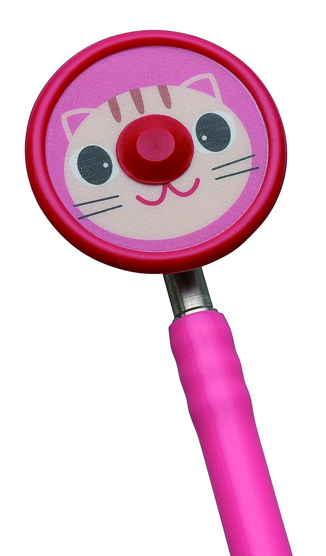 ZellaMed聴診器 コスモリットネオ(ダブルタイプ) 新生児用 ピンク ネコ B07CGDBN7F ピンク ネコ