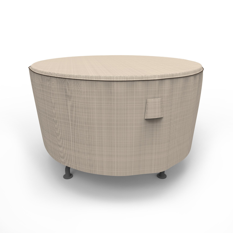 Budge English Garden Round Patio Table Cover, Medium (Tan Tweed)