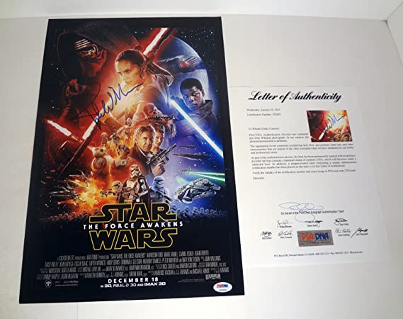 John Williams Signed Autograph Star Wars The Force Awakens Movie ...