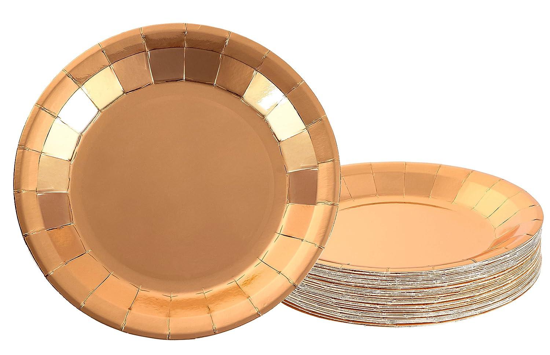 Paquete de 48 platos de papel desechables