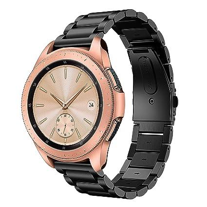 TOPsic Correa Samsung Galaxy Watch 42mm, 20mm Metal Acero Inoxidable Reemplazo Correas Banda Pulseras de Repuesto Correa para Galaxy Watch Active ...