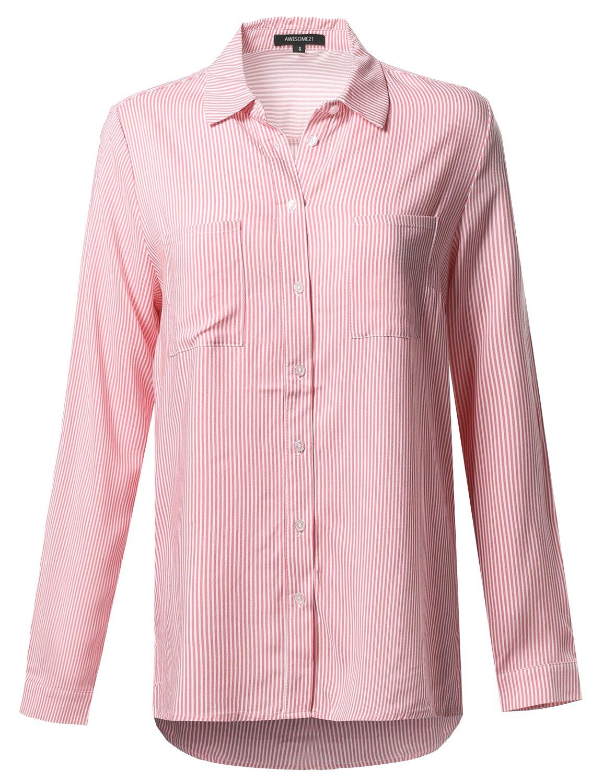 Awesome21 SHIRT レディース B071G93Z9P S|Aawstl0005 Pink White Aawstl0005 Pink White S