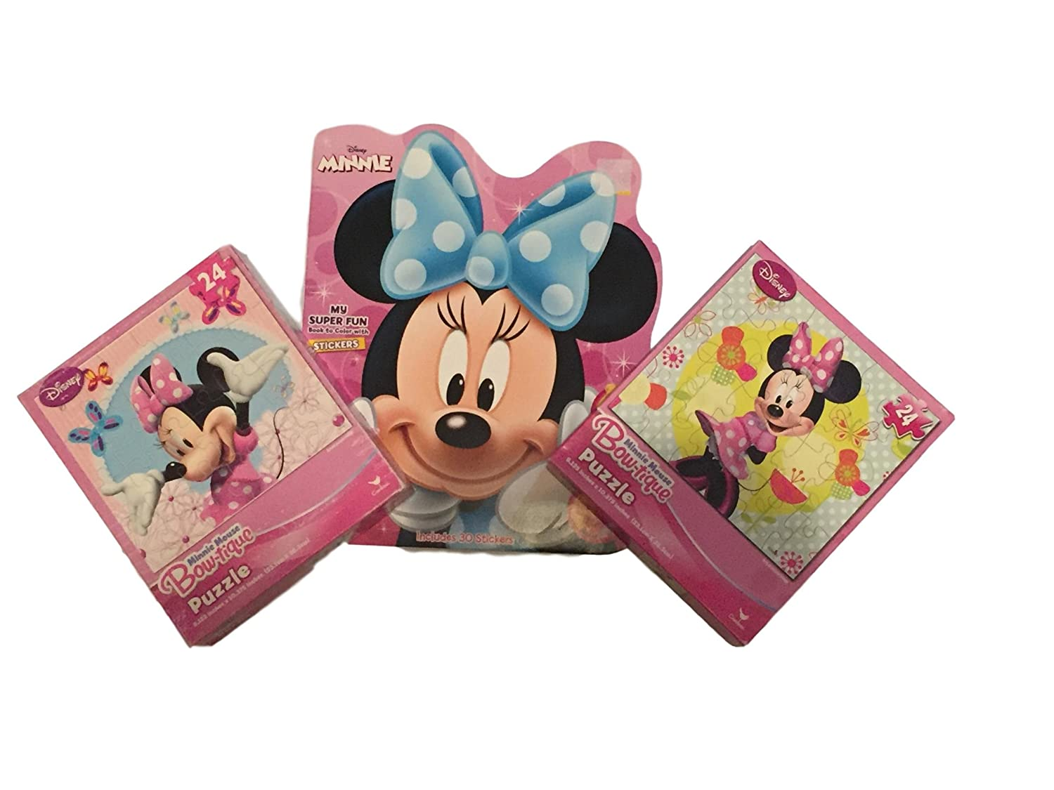 おすすめ Disney B07DY89D6F Minnie Mouse Bow-tique Puzzle (2) and (2) My Colour Super Fun Book to Colour with Stickers B07DY89D6F, サンコーのり:dce77e4a --- 4x4.lt