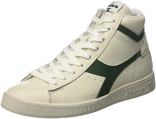 Diadora Game L High Waxed, Sneaker a Collo Alto Unisex Adulto, Multicolore (Bianco/Fogliame C1161), 42.5 EU