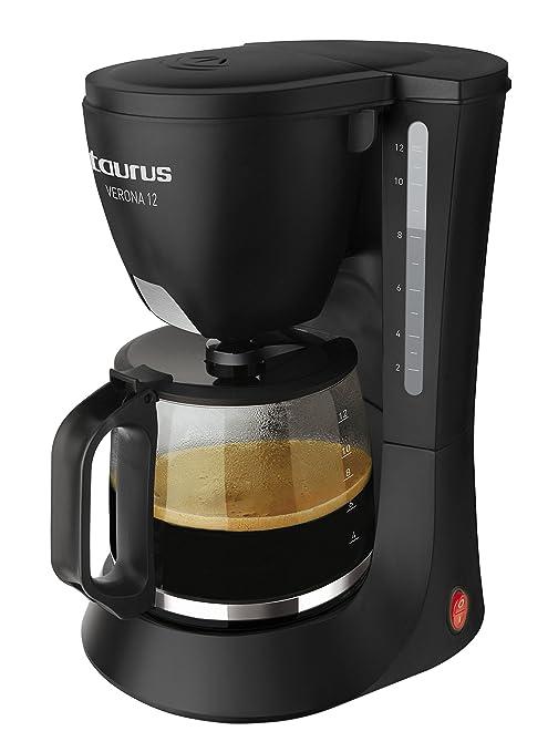 Taurus Verona 12 - Cafetera de goteo, 680 W, capacidad 12 tazas ...
