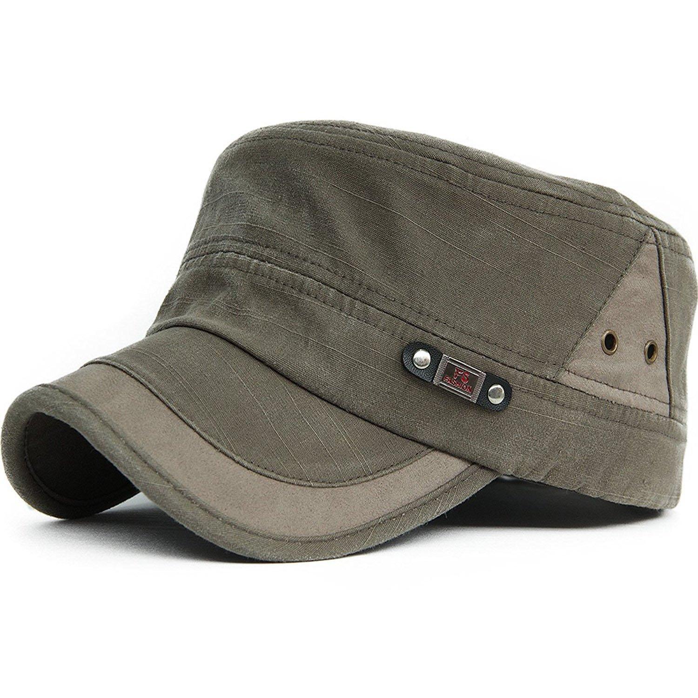 4c6bb381b377ca King Star Men Summer Flat Top Army Cadet Style Military Hat Baseball Cap  Army Green: Amazon.ca: Clothing & Accessories