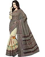 Roopkala Silks & Sarees Women's Cotton With Blouse Piece (Bp-107_Cream)