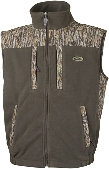 01ca56bf5cd40 Drake MST Windproof Layering 2-Tone Vest (Mossy Oak Bottomland) (Medium)
