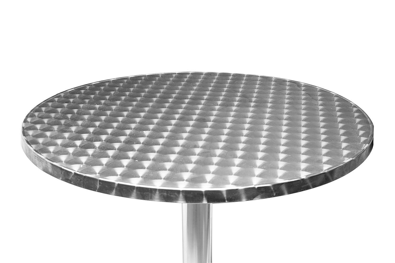 24 Zoll hoch 2/einstellbare H/öhen aus Aluminium 61/cm faltbar rund Bistrotisch