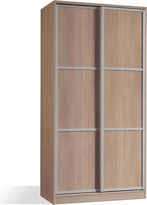Armario ropero Color Cambrian de 2 Puertas correderas, estantes ...