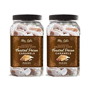Mrs. Call's Naturally Gluten Free Handcrafted Gourmet Toasted Pecan Caramel: Kettle Cooked, Soft & Individually Wrapped - Two Pack x 20 Ounces Each
