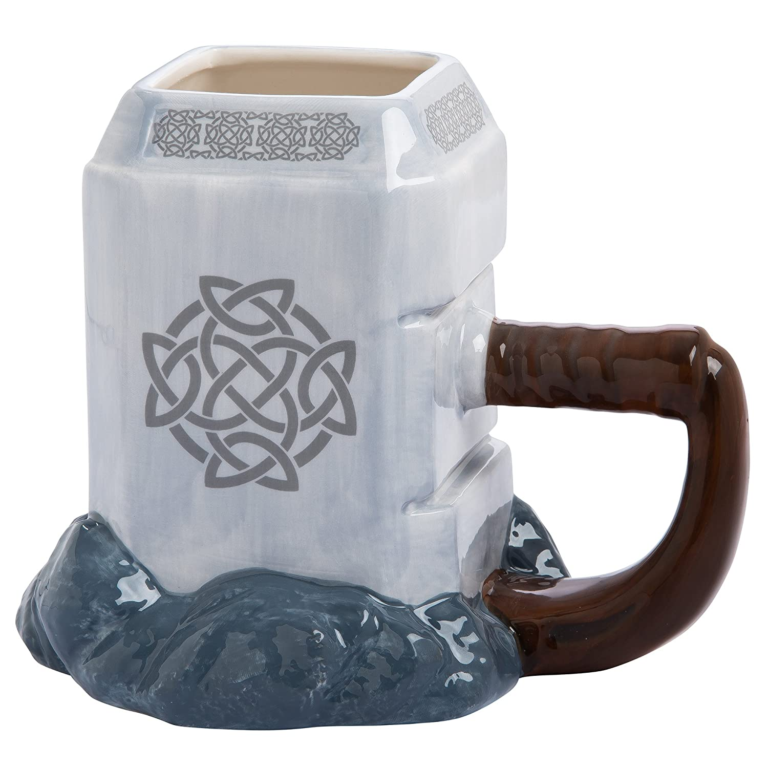 Thor Mjolnir Mug, Avengers, Infinity War, Marvel Universe, MCU, Marvel Cinematic Universe, Iron Man, Thor, Thanos, cosplay, cosplay gear, action figures, Marvel items, Incredible Hulk, Spider Man, Captain America, Black Widow, Doctor Strange