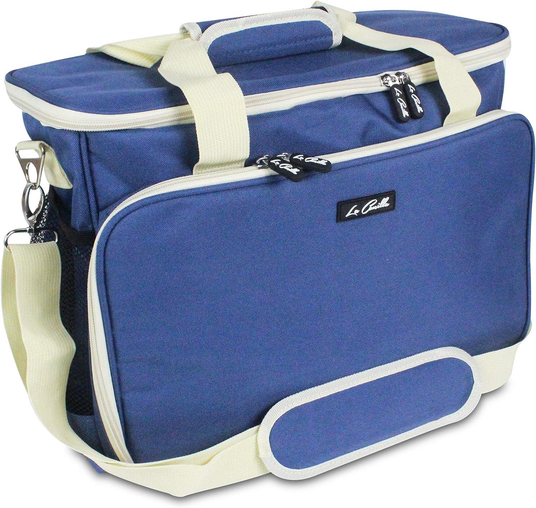 La Canilla ® - Bolsa para Máquina de Coser Funda Máquina de Coser Alfa Maleta de Transporte para Máquinas de Coser Singer y otros Accesorios Máquina Coser (Accesorios No Incluidos) (Azul)