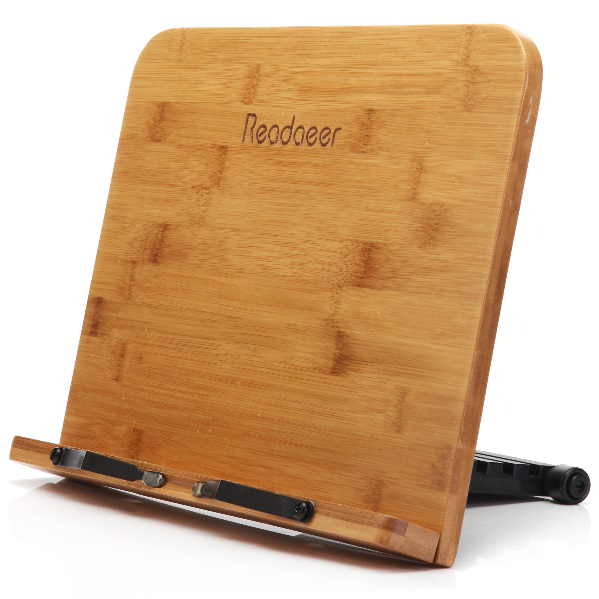 Reodoeer BamBoo Reading Rest Cook Book Document Stand Holder Bookrest by MOODAEER