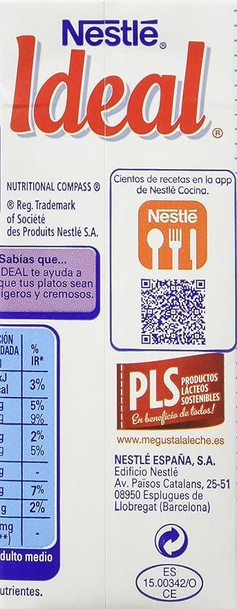 Nestlé Ideal - Leche Evaporada Para Salsas y Cremas Ligeras - Pack de 15 x 210 g: Amazon.es: Alimentación y bebidas