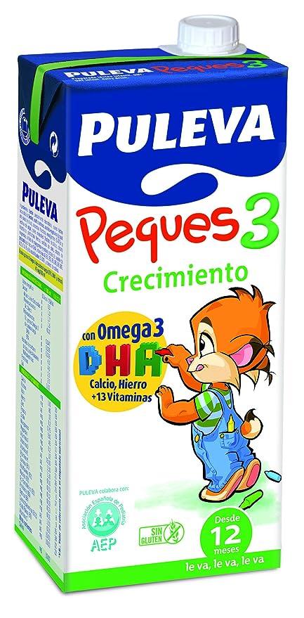 Puleva Leche Infantil Peques 3 Crecimiento con Omega3 - Pack de 6 x 1 l -