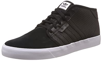 7f46f0c2c5b Image Unavailable. Image not available for. Colour  adidas Originals Men s  Seeley Mid Black and White Skateboarding Shoes ...