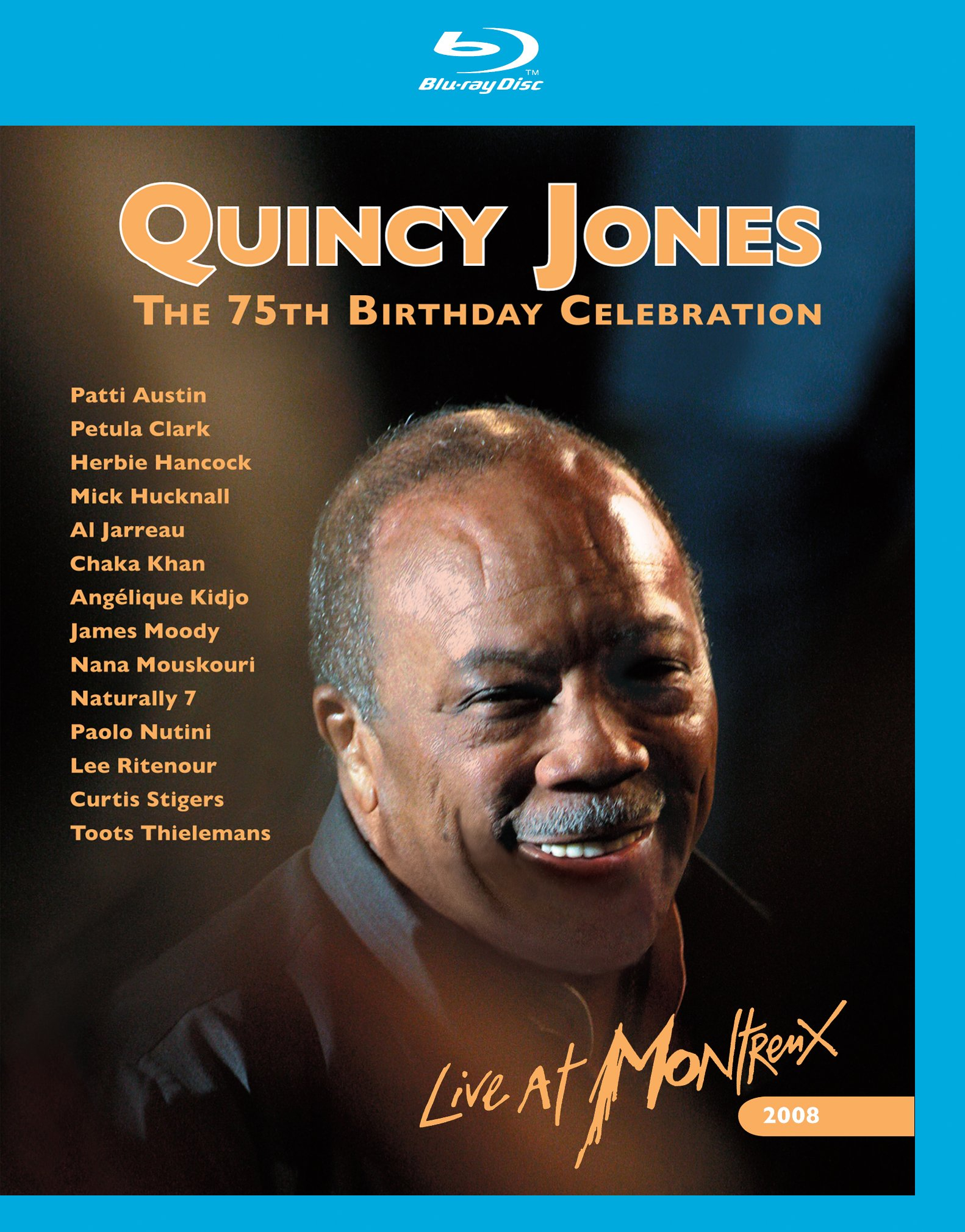 Blu-ray : Quincy Jones - The 75th Birthday Celebration: Live At Montreux 2008 (2 Disc)