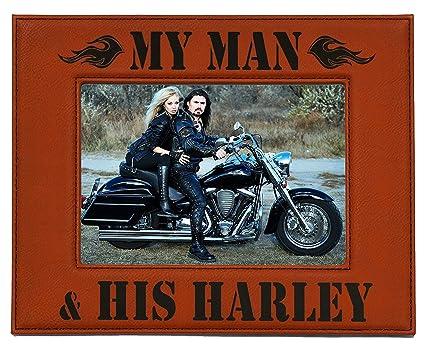 Amazon.com - HARLEY DAVIDSON PICTURE FRAME ~ MY MAN & HIS HARLEY ...