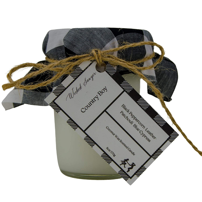 Amazon.com: Country Boy Mason Jar Candle, Manly Candle ...