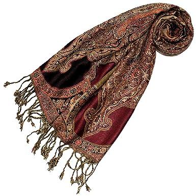 5075d571fca13 Lorenzo Cana Foulard de 100% viscose pour la femme – écharpe paisley 35 x  160