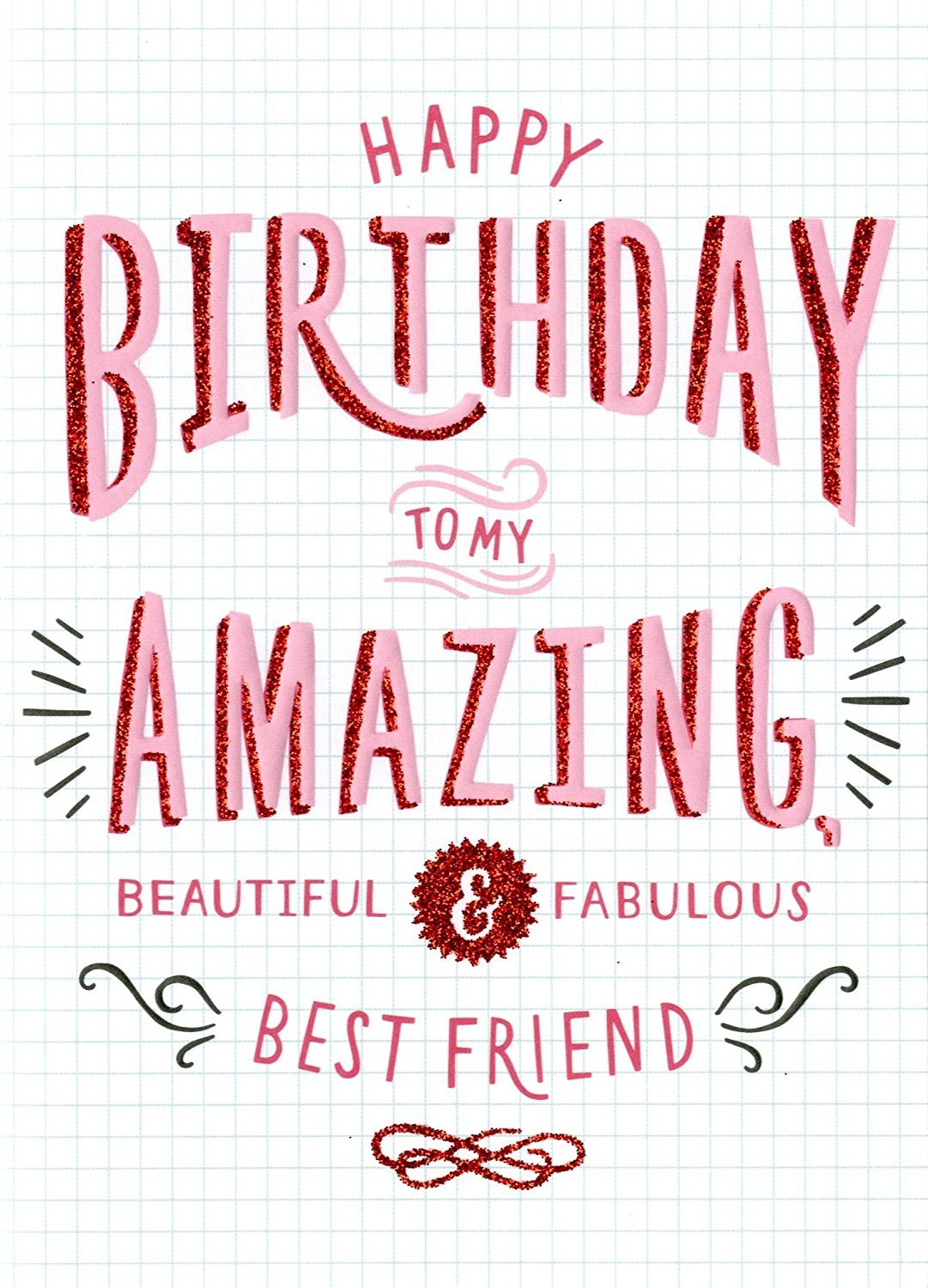 Remarkable Amazing Best Friend Birthday Card Second Nature More Than Words Personalised Birthday Cards Xaembasilily Jamesorg