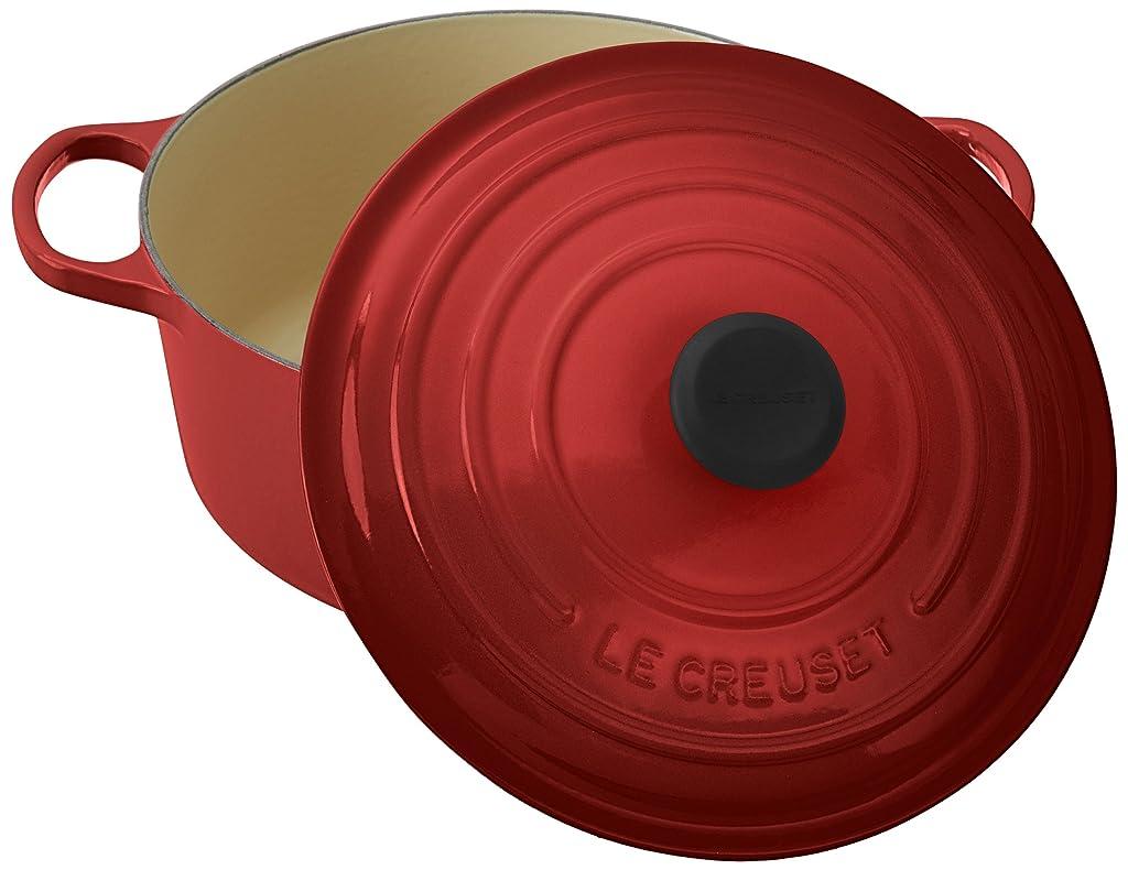 Le Creuset Signature Enameled Cast-Iron 5-1/2-Quart Round French (Dutch) Oven, Cerise (Cherry Red)