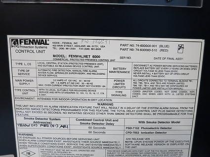 Fenwal Fenwalnet 6000 74-600000-001 Blue Control Unit 06-220012-001 Protection: Amazon.com: Industrial & Scientific
