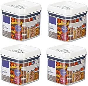 JN Flip-Tite Square Container, 4.5 Cups - Set of 4