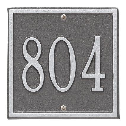 "Whitehall SQUARE Address Marker 6/"" x 6/"" Personalized Plaque Petite Size"