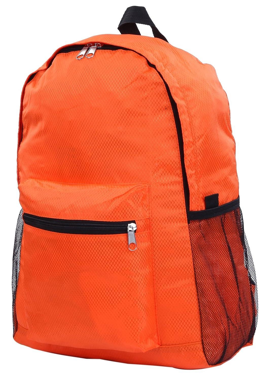 bfbd4f7ddf8a Amazon.co.jp: 折りたたみ リュック リュックサック 旅行 携帯 軽量 コンパクト エコバッグ (オレンジ): スポーツ&アウトドア