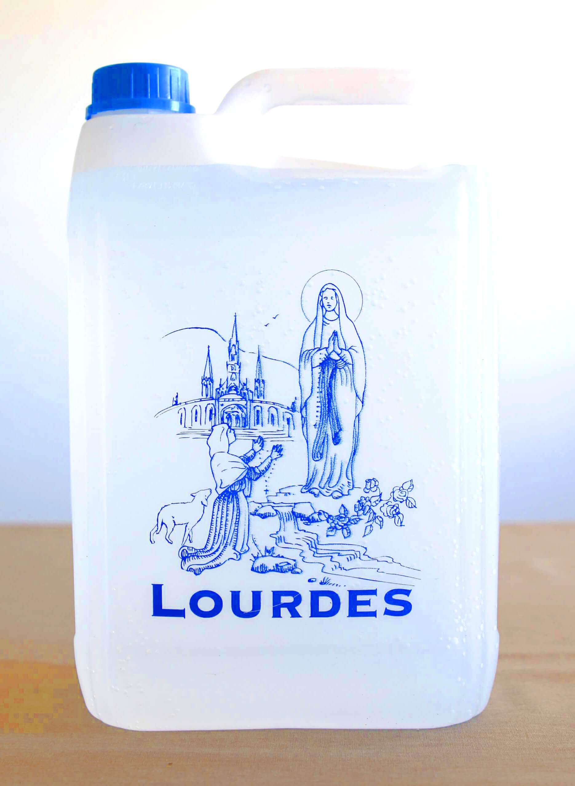 LOURDES HOLY WATER CONTAINER 5L (1,321 GAL) - LAST UNITS - Filled with AUTHENTIC LOURDES WATER from the Grotto by AUTHENTIC FROM LOURDES