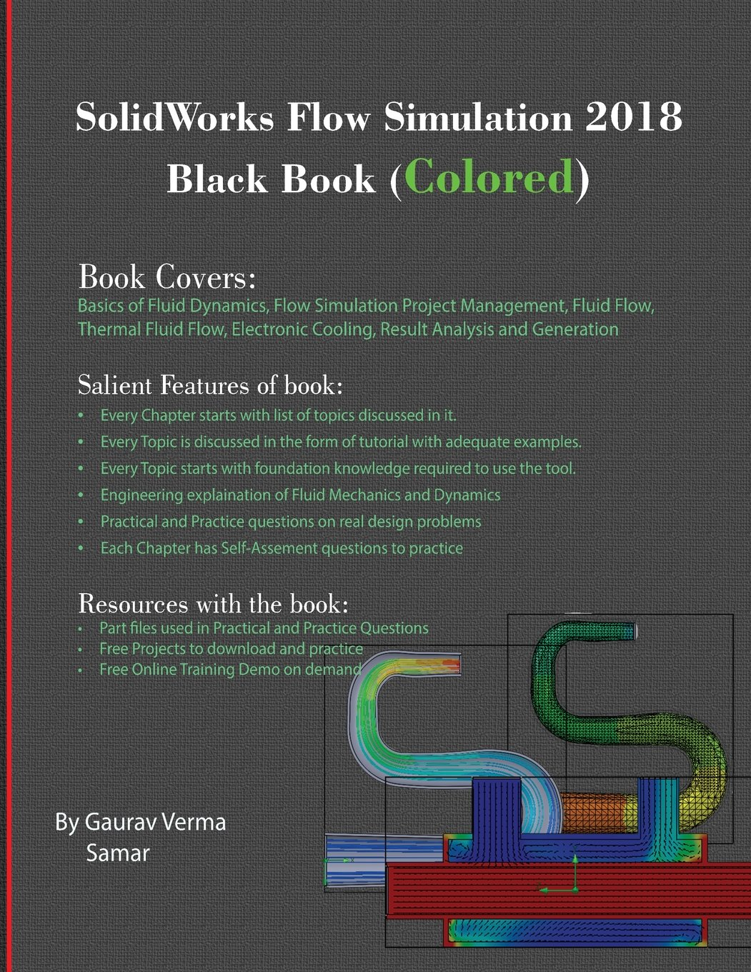 Book Cover Design Tutorial In Photo ~ Solidworks flow simulation black book colored gaurav verma
