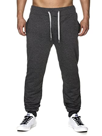 TAZZIO Herren Jogginghose Sweatpants Birds 16600 Anthrazit S