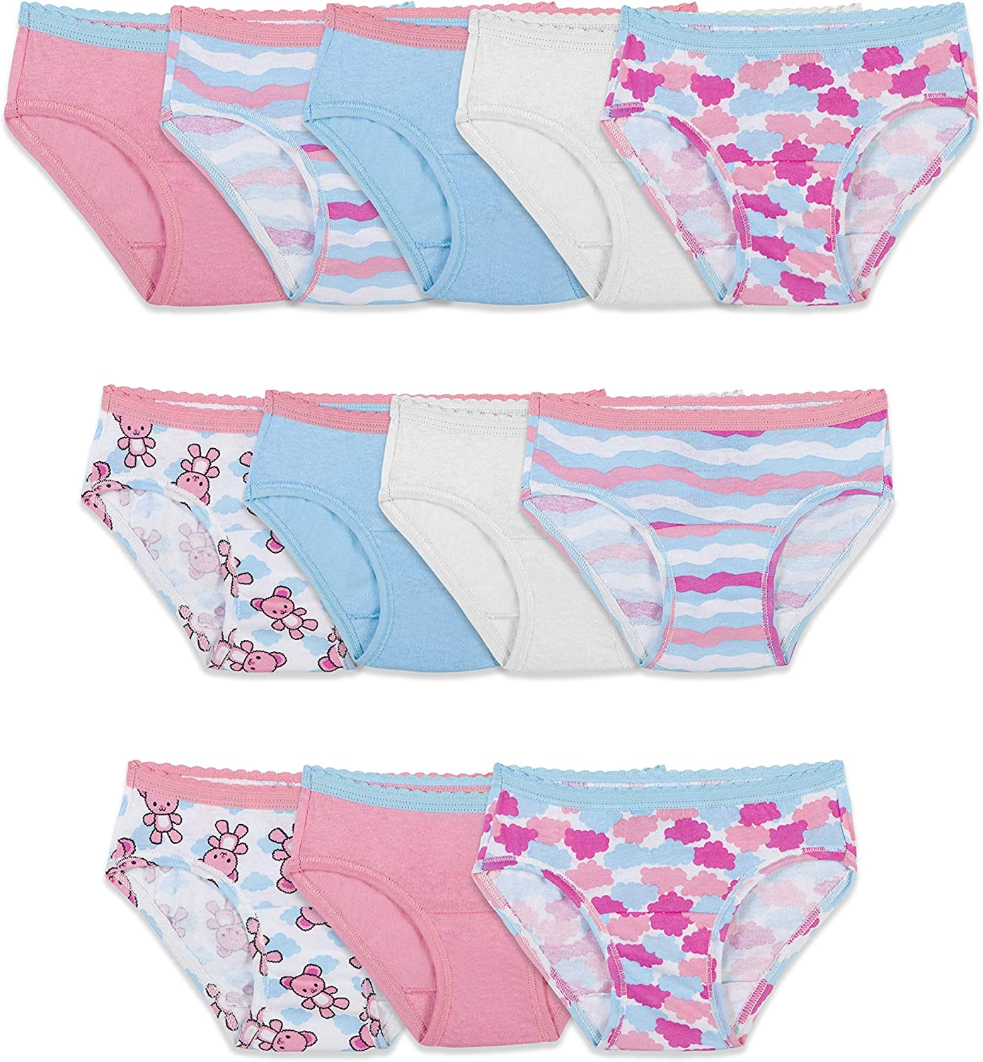 Pack of 12 Fruit of the Loom Toddler Girls Brief