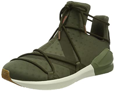 PUMA Women Fierce Rope VR Hi Sneaker Green Olive, Shoe Size:EUR 37.5