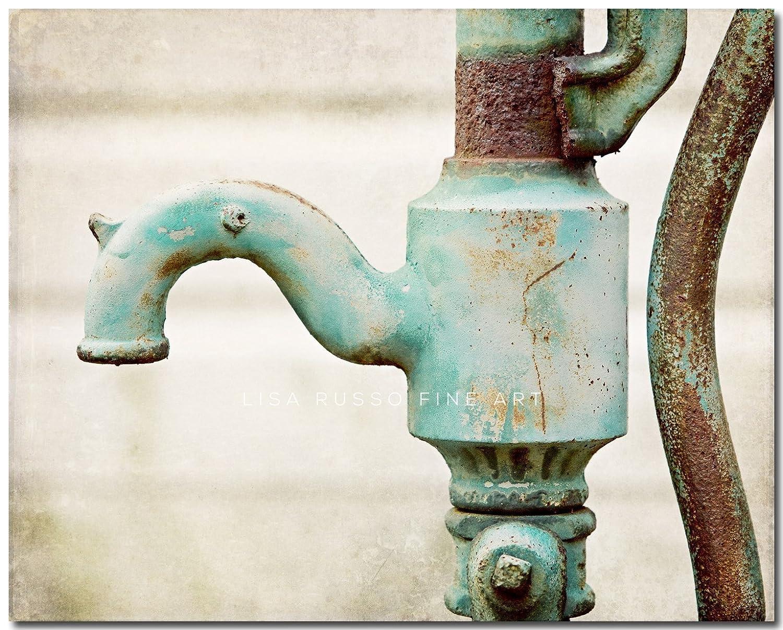 Amazon.com: Rustic Teal Bathroom Decor - Aqua Bath - Vintage Water ...