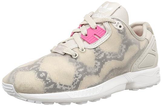 Adidas ZX Flux Decon W - Zapatillas para Mujer, Pearl Grey S14/Joy Pink S13/Ftwr White, 37 1/3 EU